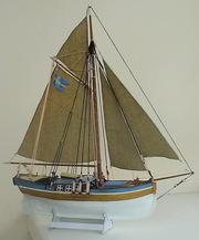 модель корабля шведська яхта 18 ст.