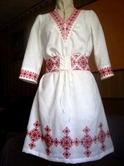 Весільна сукня в українському  етностилі