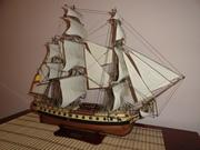 Модель парусника,  испанский фрегат