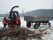 Навесная на трактор дереводробилка