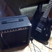 Електрогітара і гітарний комбік