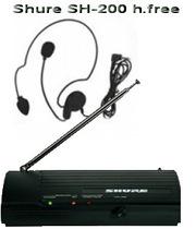 Shure SH-200 h-free новая  с радиомикрофоной гарнитурой цена 350грн.