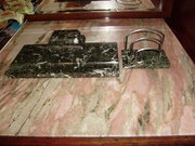 Продам письменный набор из серого мрамора антикварный
