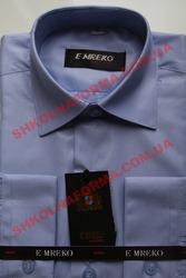 Рубашка для мальчика голубая в рубчик с длинным рукавом Emreko,  новая