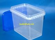 Пластикова тара для харчових продуктів,  відра на 1л