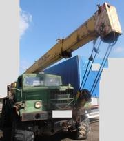 Продаем автокран КС-3575А-1, г/п 14 тонн, 1998 г.в., КрАЗ 255Б1, 1989 г.в.