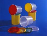 Ведро пластиковое прозрачное с крышкой 0, 5л