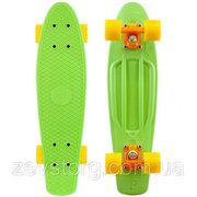 Скейтбордскейт Penny Board зеленый (Пенни борд) 6 цветов (лонгборд)