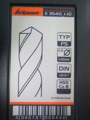 Набор коротких свёрл HSS-Co8 № 113140,  тип FS,  в кейсе TiAlN