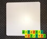 Столешница Алор,  квадратная,  толщина 25 мм,  60*60 см,  цвет белый