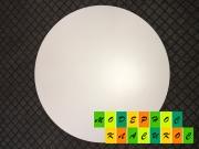 Столешница Стефано,  круглая,  толщина 25 мм,  диаметр 80 см,  цвет белый