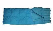 Пуховый спальный мешок одеяло с капюшоном на рост до 176 см.